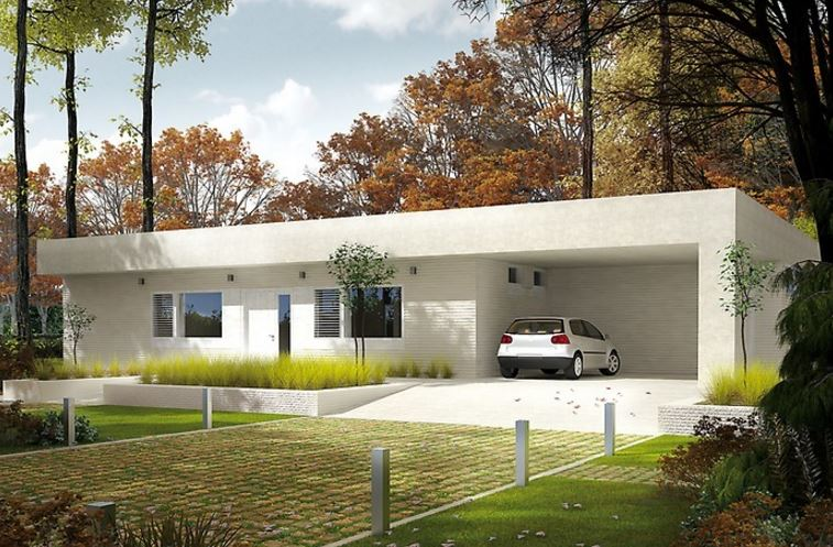 Planos de casas bonitas de un solo piso for Plano casa un piso