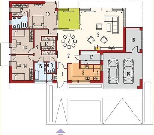 Planos de casas modernas de un solo piso