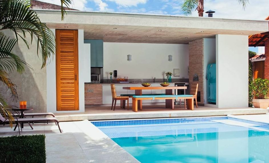 Modelos de quinchos modernos al lado de piletas de natacion for Fotos de piscinas modernas en puerto rico