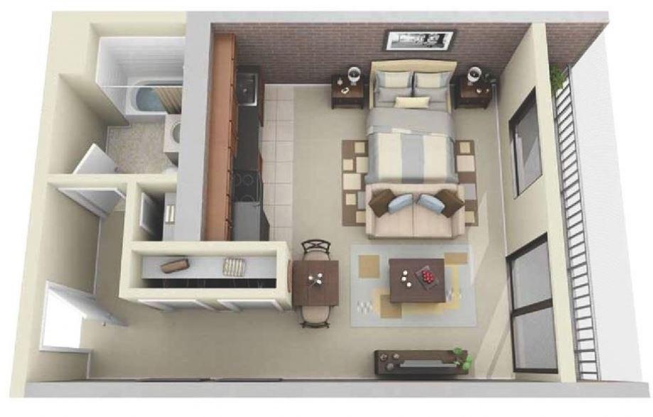 Dise os para construir cuartos de renta for Cuarto 4x4 metros