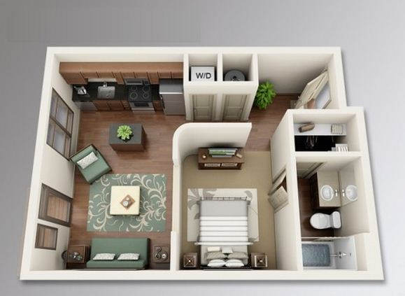 Planos departamento en 35 metros cuadrados