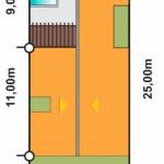 Casa de 10×20 con piscina