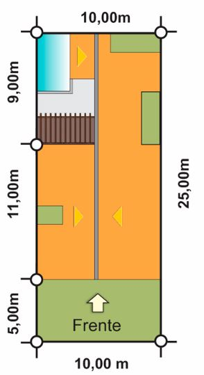 diseños de casas para terrenos de 10x20 con piscina