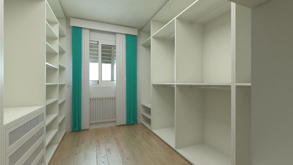 Medidas estandares de un walk in closet for Banos modernos con walking closet