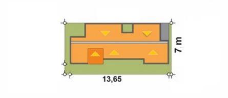 Modelo de casa para terreno de 7 x 14