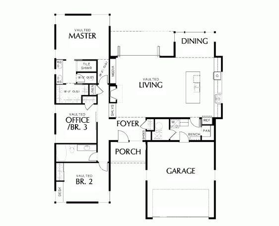 Plano para casa en terreno de 10 x 15