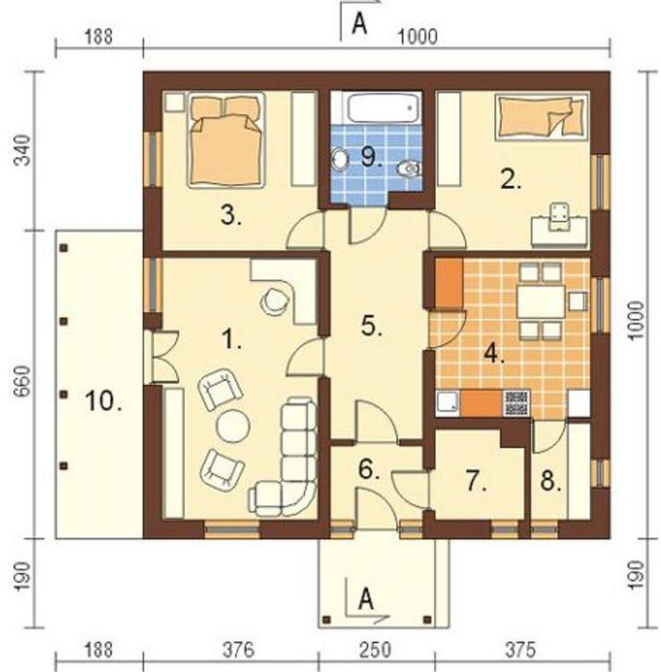Planos de casas en terrenos de 10 x 20 metros for Disenos de casas 10x20