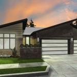 Plano de casa de un piso y 185 metros cuadrados