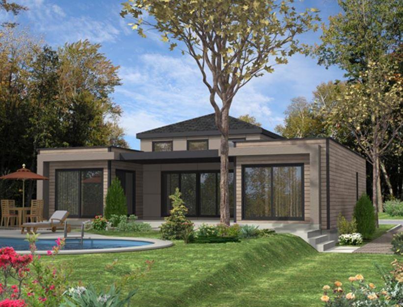 Imagen de casas modernas con jardin adelante y atras pileta
