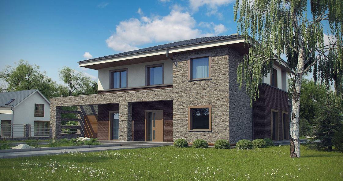 Planos de casa moedrna de 150 metros cuadrados con jardin y patio