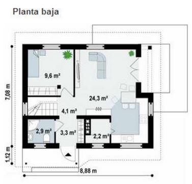 Planos de viviendas unifamiliares pequeñas
