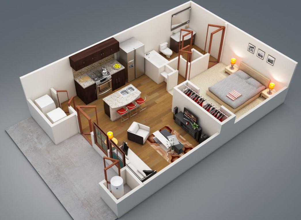Plano de casa de 8 x 9 metros
