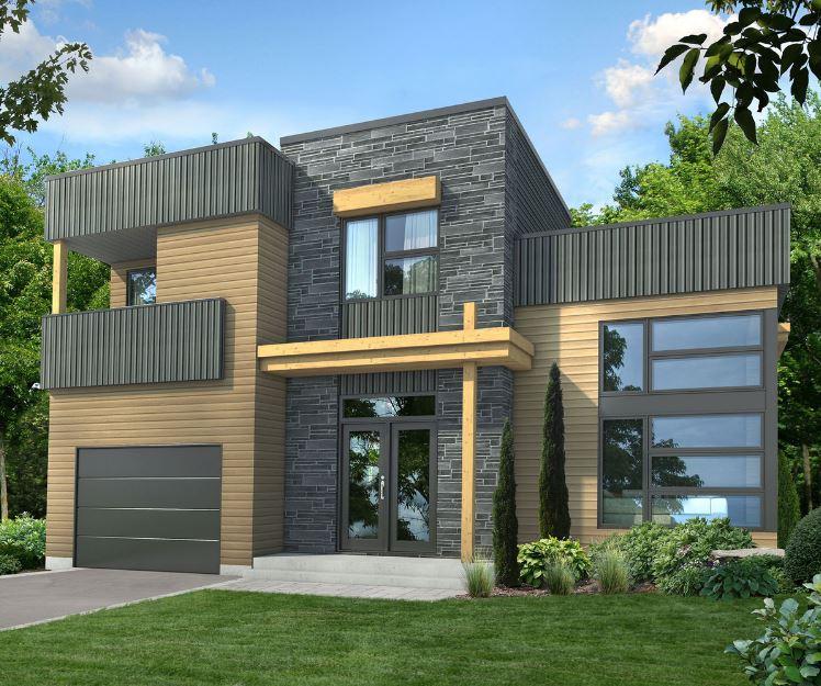 Modelos de casa con las habitaciones arriba
