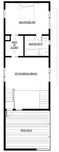 Plano de casa de 4 mts de ancho por 15 metros de largo