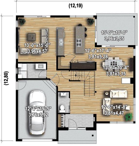 Planos de casas modernas for Planos de casas de dos pisos modernas