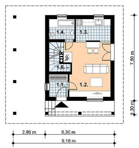planos de casas pequenas de un piso