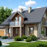 Planos de una casa urbana de 2 pisos con fachada