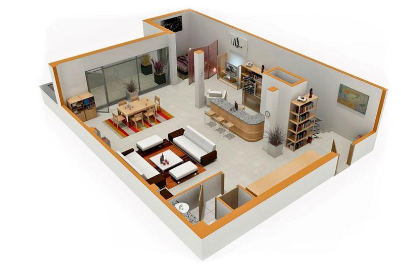 Concepto de plano decorativo