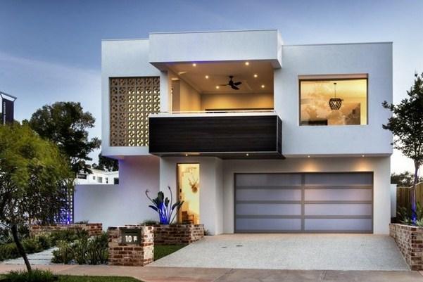 Fachadas de casas modernas de 2 plantascon terraza