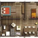 Plano casa 5×10 metros cuadrados