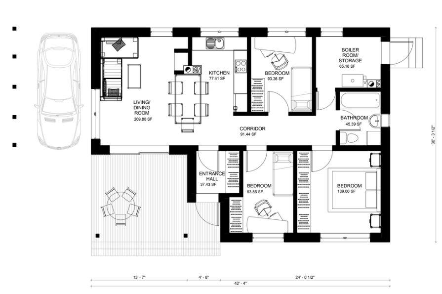 Planos de casas gratis for Plano de casa quinta moderna
