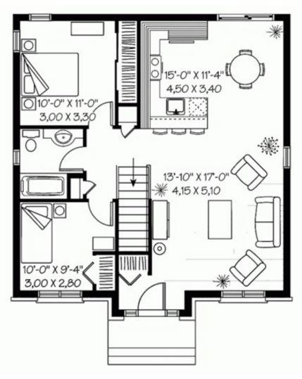 Casas de ladrillo visto similar images plano de moderna - Planos de casas pequenas ...
