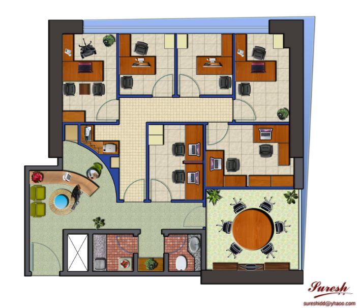 Planos de casas gratis for Distribucion de oficinas