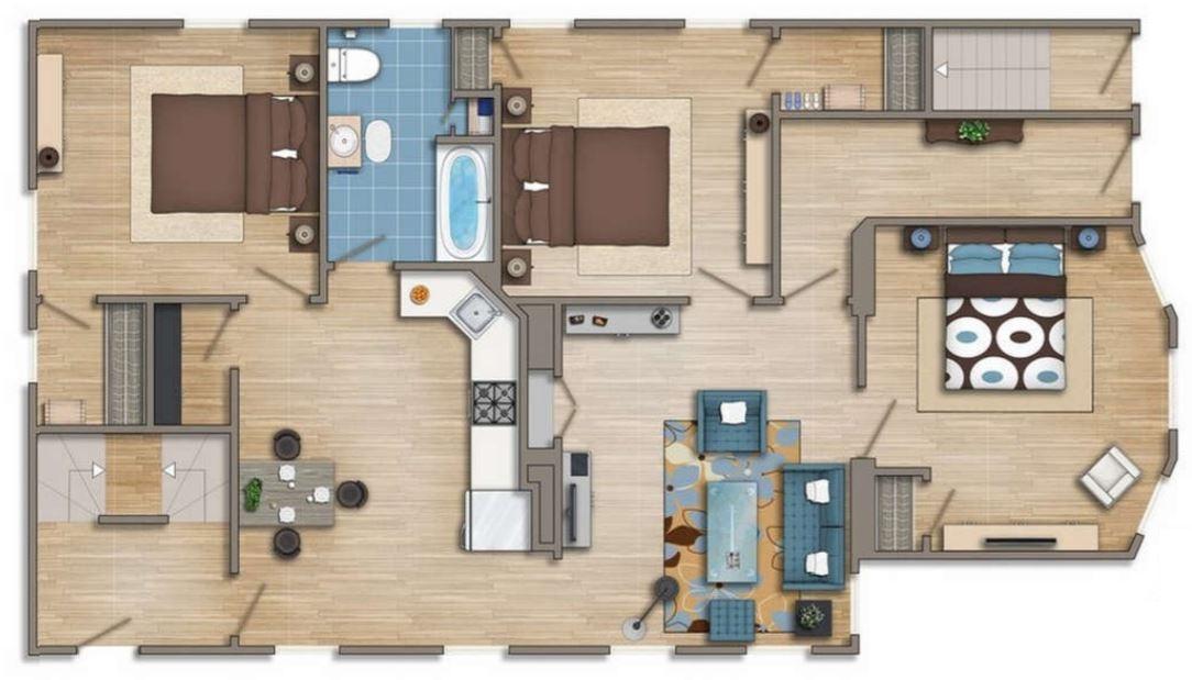 Planos para apartamento de 6 m de ancho por 12 de largo