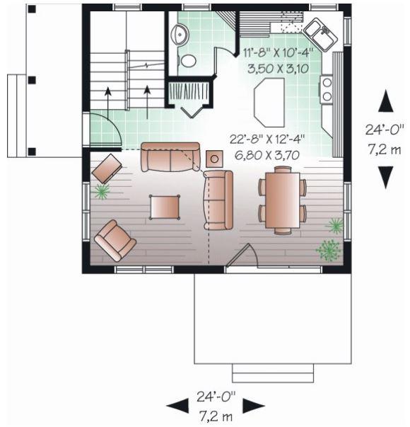 Imagenes planos de 100m2 dos plantas - Planos de casas de 100 metros cuadrados ...