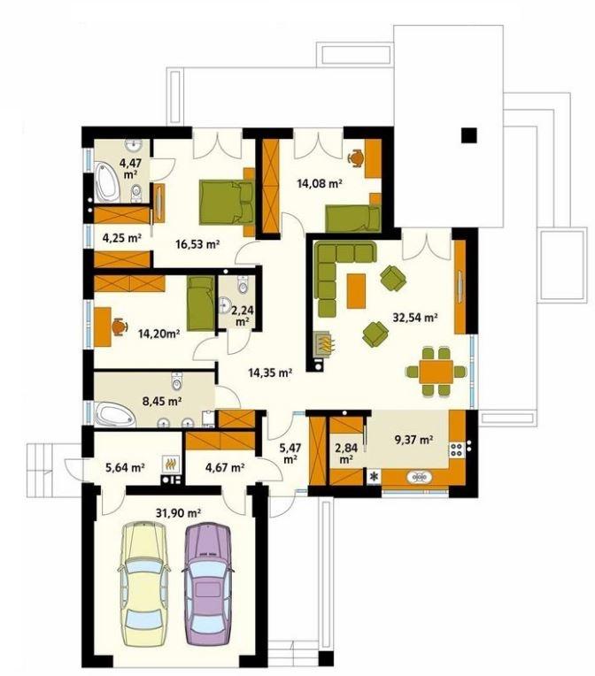 casas de 15 metros de frente planos