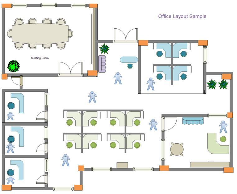 Planos de oficinas for Plantas de oficinas modernas