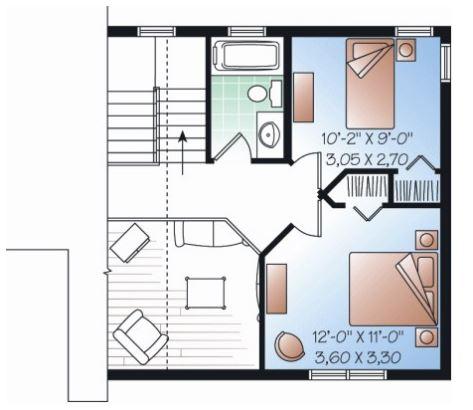 planos de casas 2 plantas 100m2