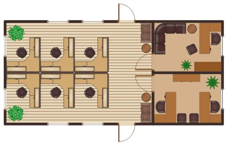 Planos de casas gratis for Oficinas pequenas modernas en casa