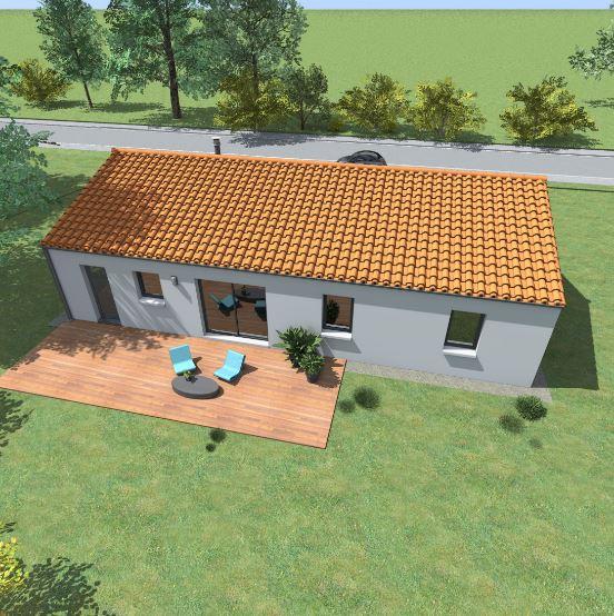 Fachadas de casas for Casas con techo a un agua