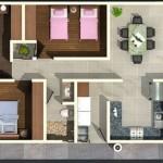 Planos de casa con 7 metros de frente por 10 de largo