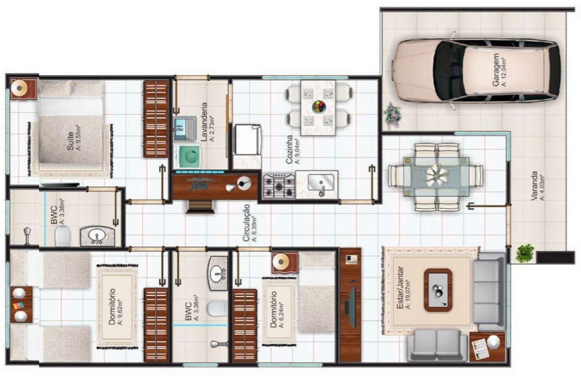 Planos de casas modernas for Planos y fachadas de casas pequenas de dos plantas