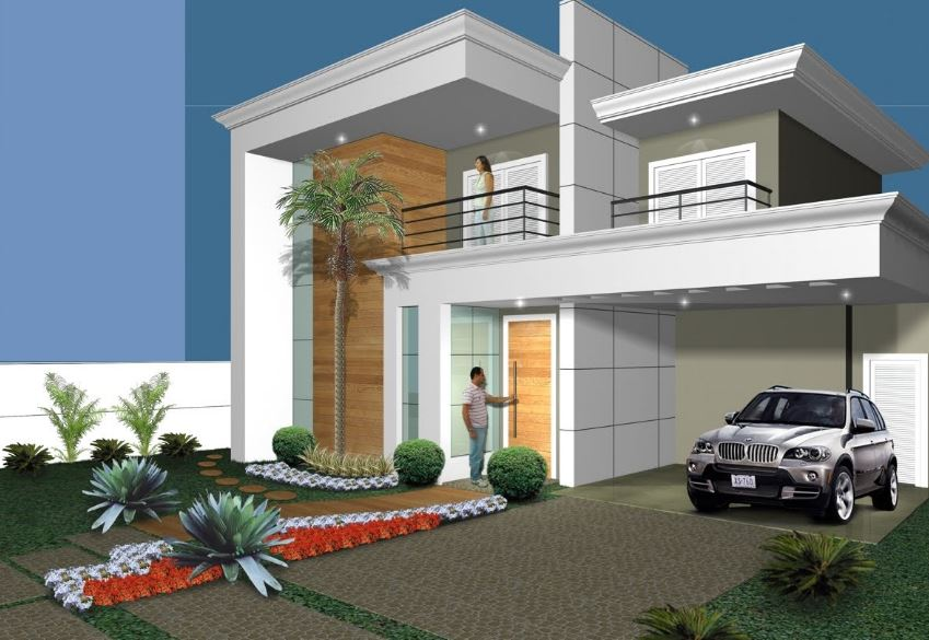 Disenos de fachadas de casas pequenas de 7 metros de frente for Fachadas de casas modernas de 6 metros