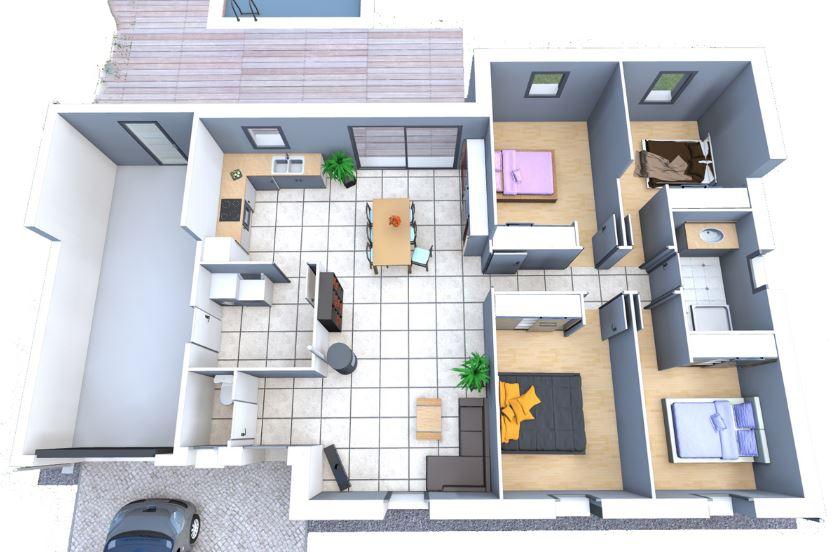 modelos-de-casas-sencillas-con-4-habitaciones-mas-bano