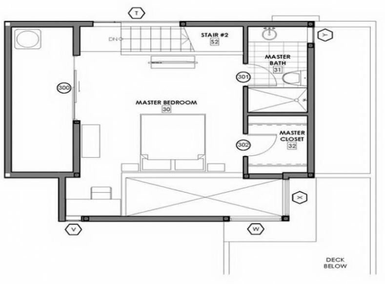 Planos de dormitorios con baño y vestidor con medidas