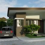 Casa pequeña con techo de una sola agua