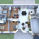Modelos de casas sencillas con 4 habitaciones mas baño