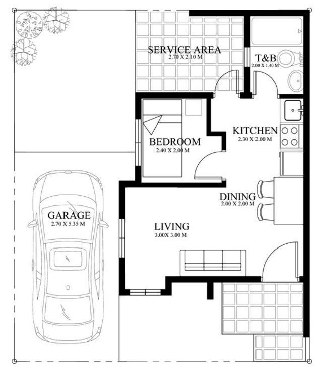 planos-y-medidas-de-casa-pequena-de-un-cuarto-sala-cocina-y-comedor-y-fachada-de-la-misma