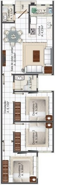 planos-de-casas-chorizo-con-medidas