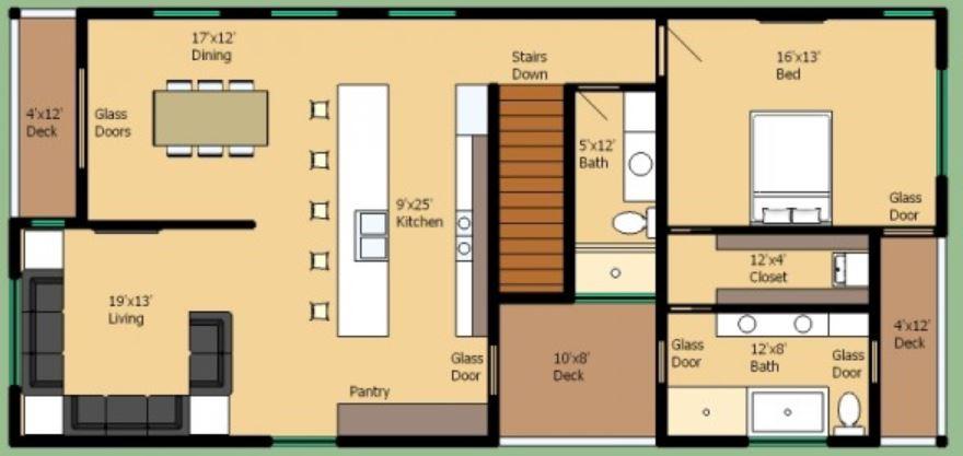 casa-rectangular-pequena