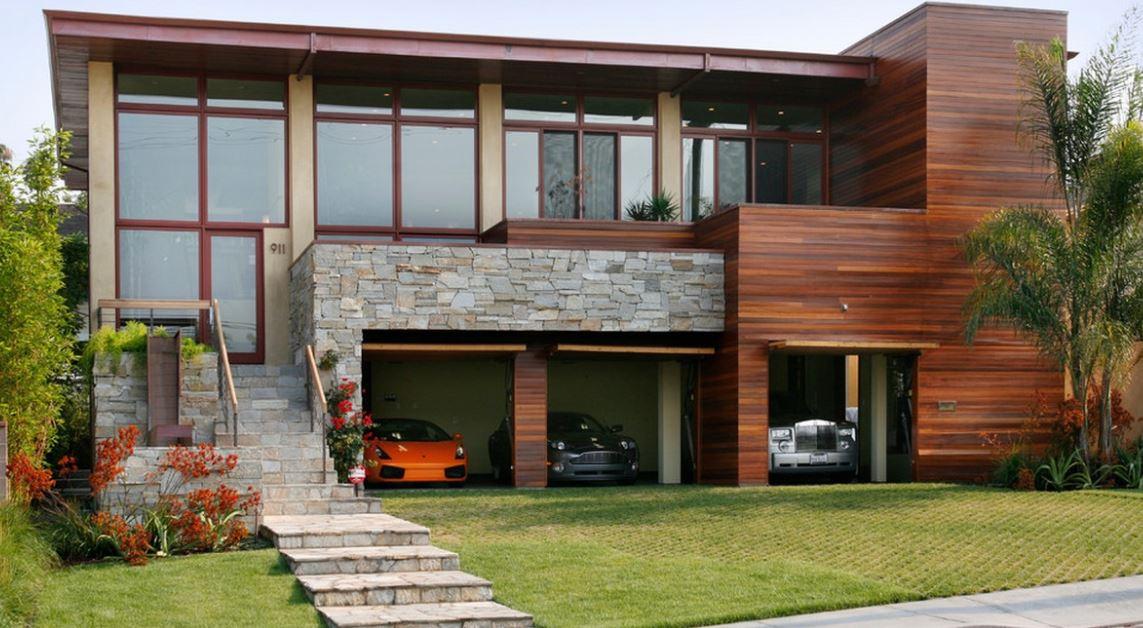 Fachadas de casas de dos pisos con escaleras por fuera for Tipos de escaleras para casas de 2 pisos
