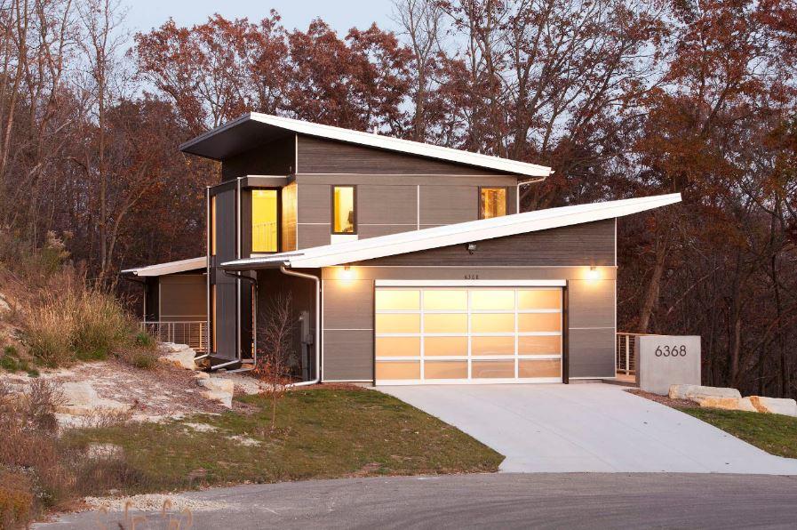 Casas modernas con cubierta inclinada - Casas unifamiliares modernas ...