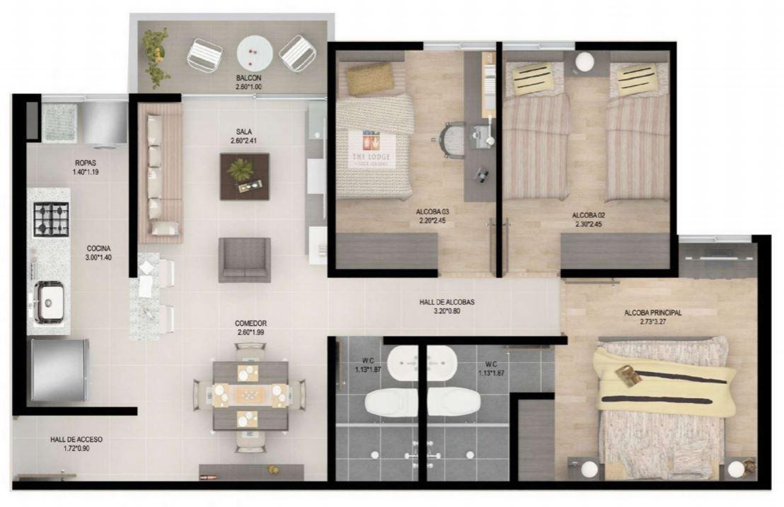 Planos de casas gratis for Dormitorio 15 metros cuadrados