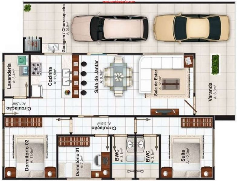 planos-de-casas-de-3-dormitorios-en-honduras