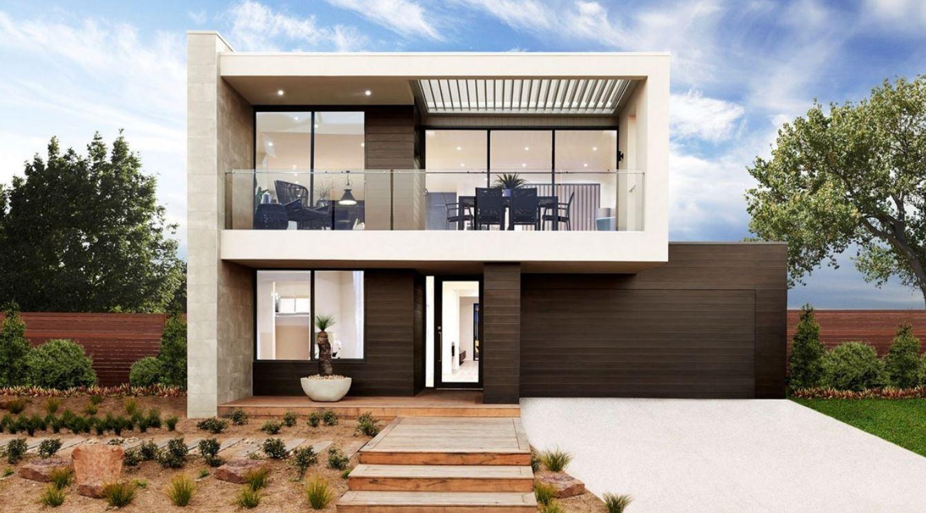 Dise os de fachadas con portones grandes for Aberturas para casas modernas