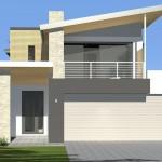 Diseños de fachadas con portones grandes